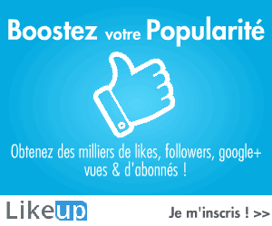 Likeup.fr - Plus de Likes, Followers, Google+, Vues et d'abonnes !